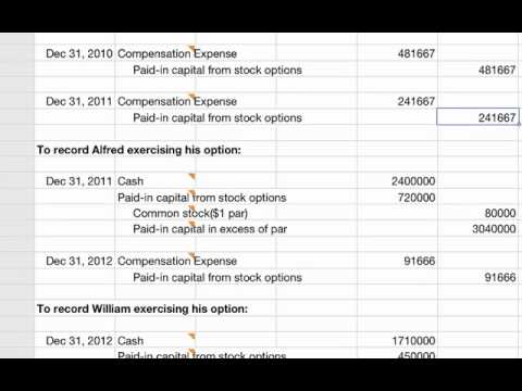 expense stock options accounting