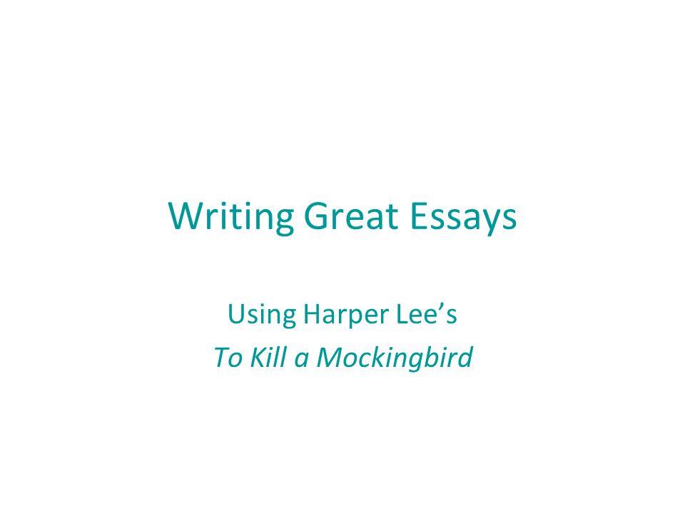 To kill a mockingbird research paper topics