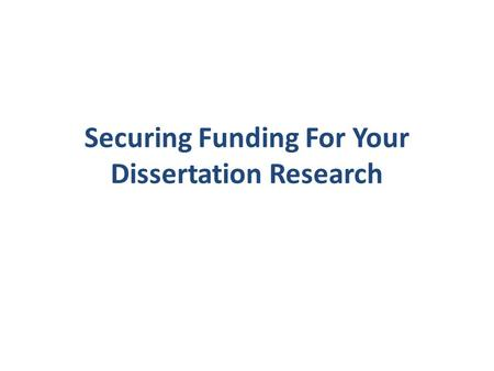 Write my dissertation research grants