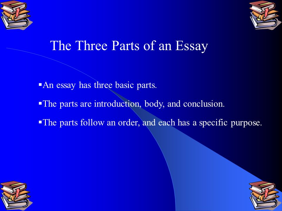 The Three Part Essay - PPTX Powerpoint