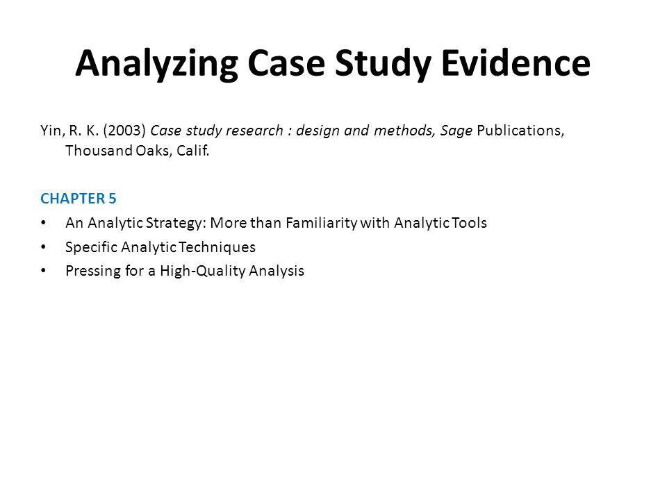 analysis of case study data Qualitative case study data analysis methods data analysis is detailed in description and consists of an analysis of themes especially for interview or documentary.