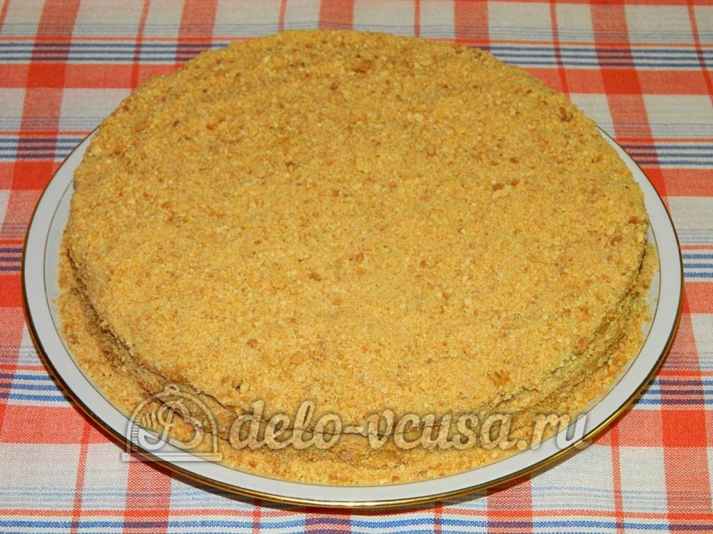 фоторецепт торт из бисквитных коржей с зефирным кремом