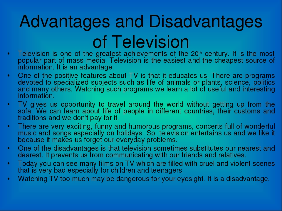 buy disadvantage of watching tv essay