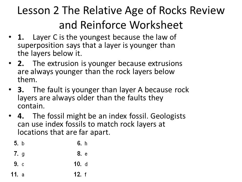 Relative age dating faults