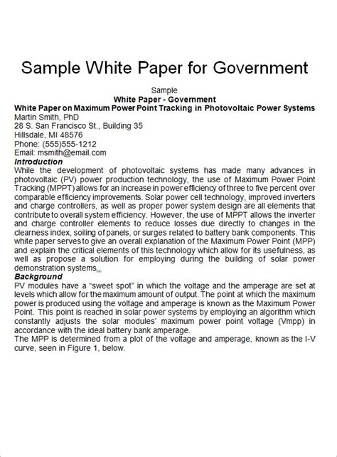 Writing a white paper outline
