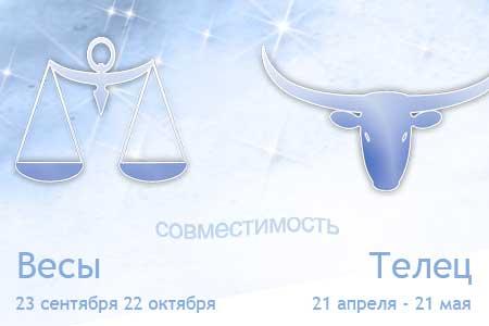 Гороскоп совместимости женщи  весы и мужчи  телец совместимость