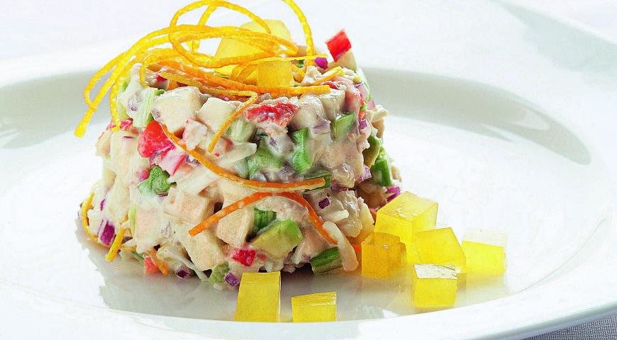 Рецепт быстрого салата с крабовыми палочками