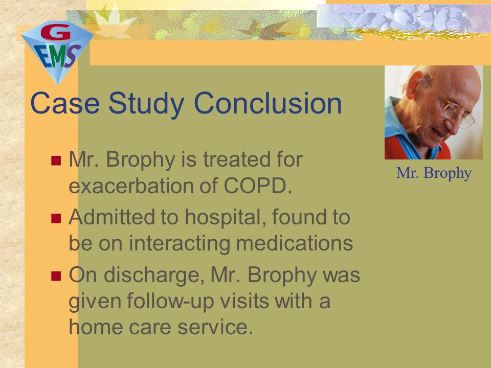 COPD Case Study Assignment - UK Essays