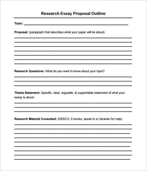 Outline of a research proposal paper