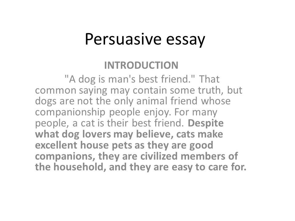 Persuasive essay writing with examples - Whataboutessay