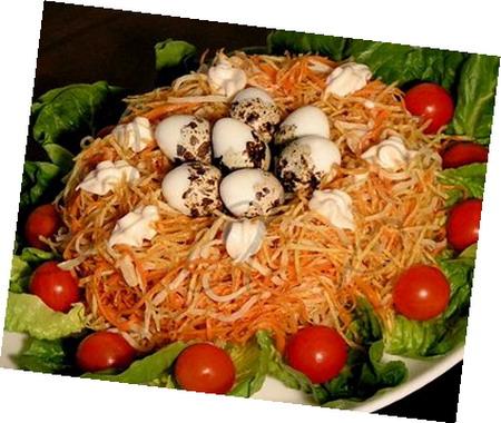 Перепелиное гнездо рецепт с фото пошагово