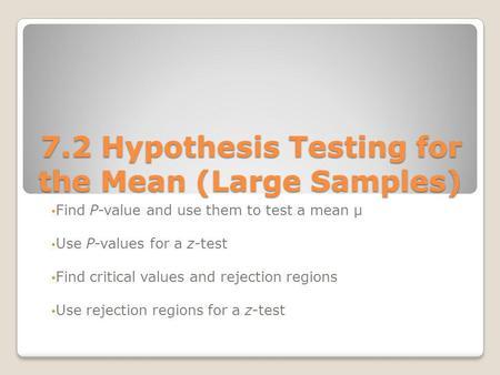 atssyllabusspring2014brase - Statistical Hypothesis