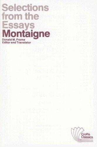Write my montaigne complete essays