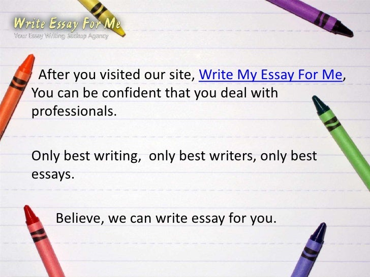 Write my think write essay