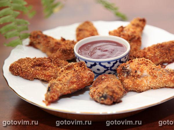 Куриные крылышки панировке рецепт фото