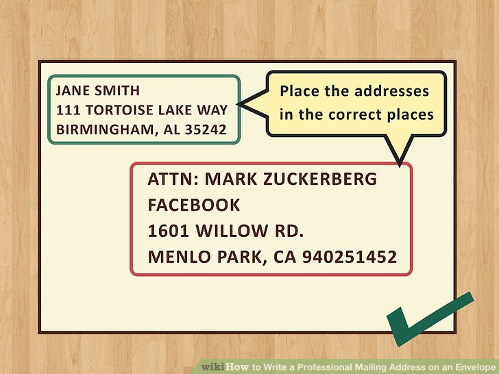 how to write home address on envelope