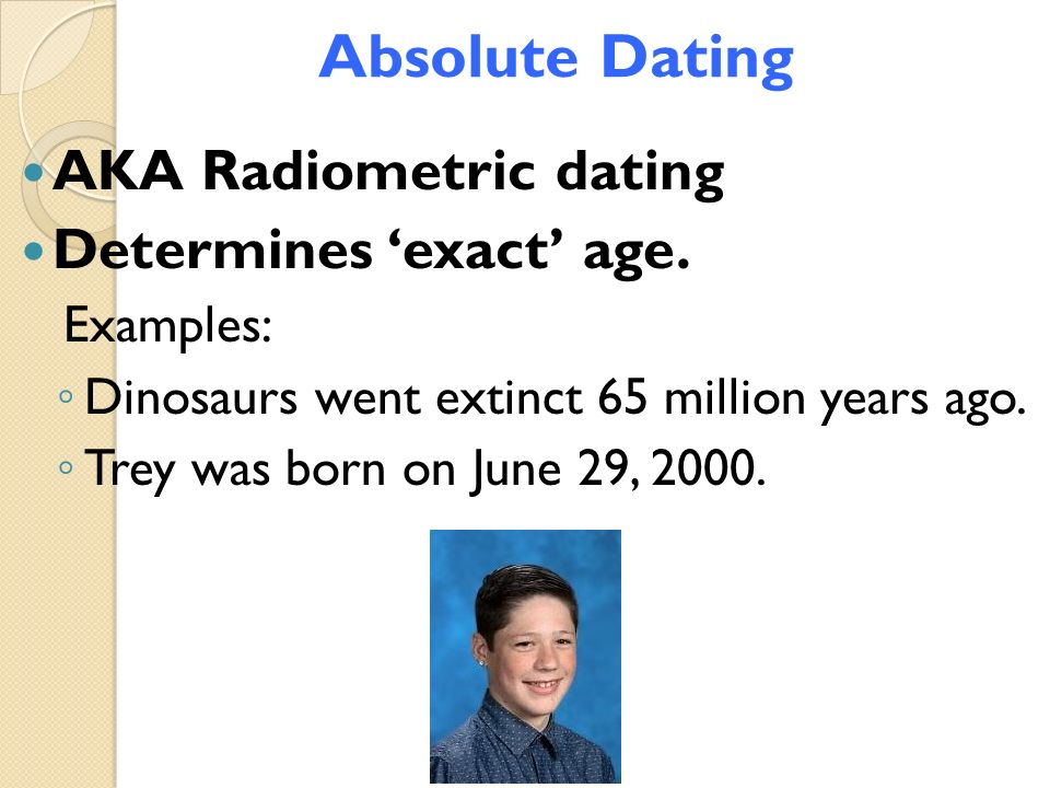 Absolute dating dinosaurs