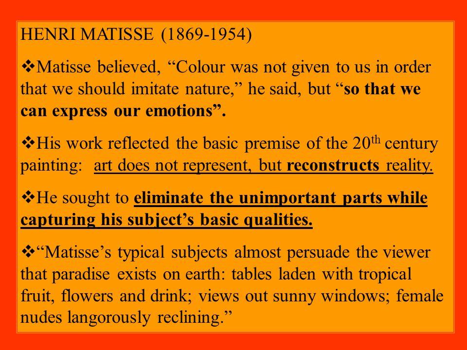 Henri Matisse Essay Examples - Kibin