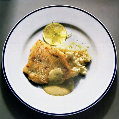 Рецепт Морской окунь сфенхелем икисло-сладким рисом