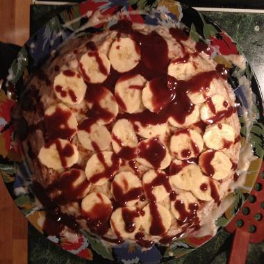 Рецепт Блинный торт сбананами ибанановым кремом