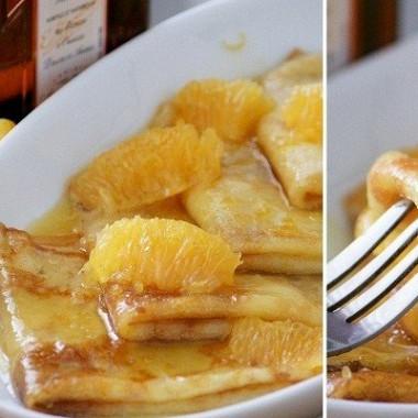 Рецепт Блинчики вапельсиновой карамели