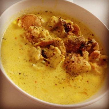 Рецепт Сливочный крем-суп изтыквы ссыром