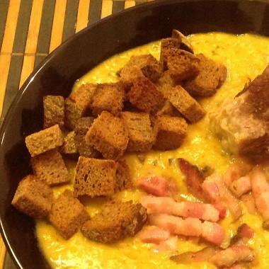 Рецепт Гороховый суп сговядиной ибеконом