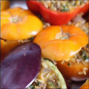 Рецепт Запеченные фаршированные баклажаны всметанном соусе