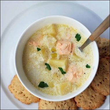 Рецепт Финский сливочный суп слососем (Лохикейтто)