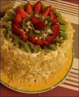 Рецепт Арбузный торт