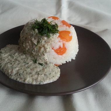Рецепт Рис сморковью подгрибным соусом