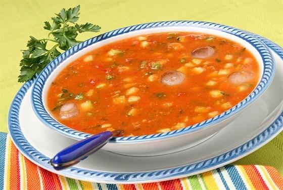 Суп томатный с кукурузой