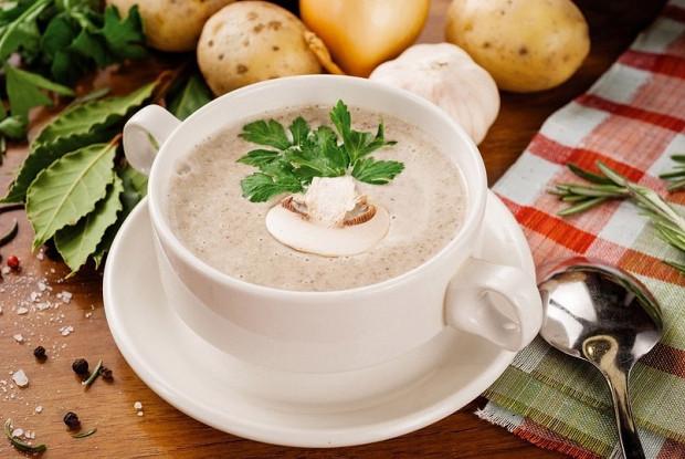 сырный крем суп с грибами блендер рецепт