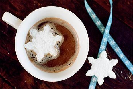Какао с зефиром маршмеллоу