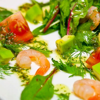 Салат авокадо с креветками рецепт с 168