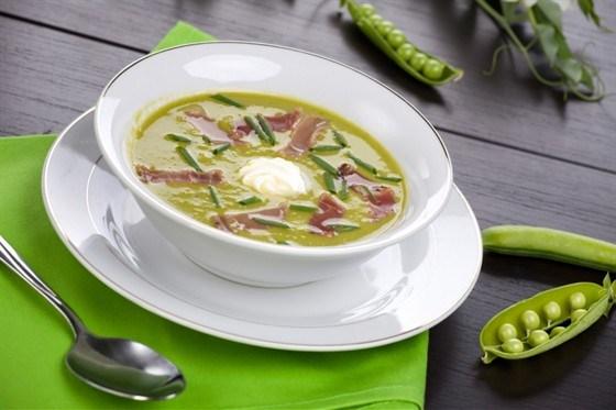 Суп с зеленым горошком и копченостями