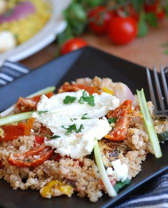 Салат из печеных овощей и феты