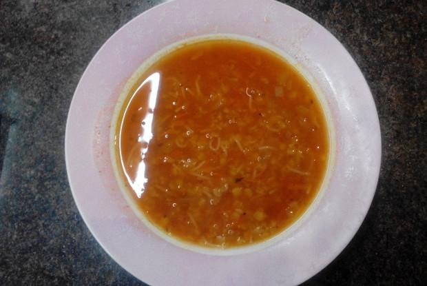 Суп из чечевицы с вермишелью