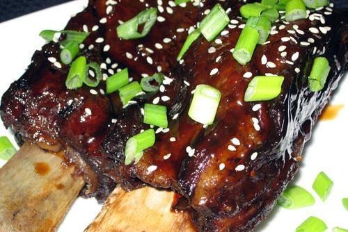 Говяжьи ребра-гриль в маринаде по-корейски