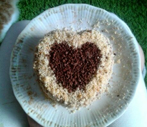 Торт с шоколадно-сливочным кремом
