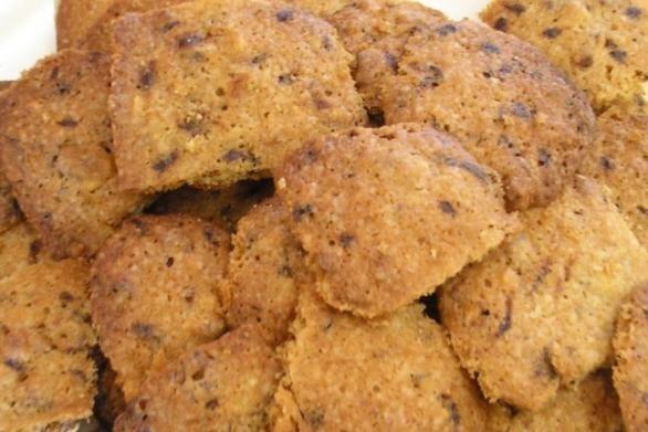 Кофейное печенье с грецкими орехами