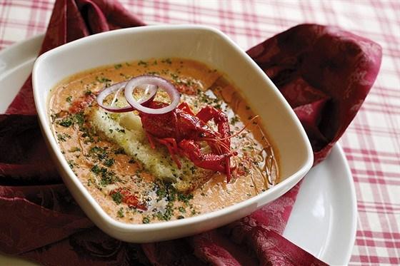 Охлажденный суп из раков