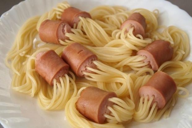 Макароны с сосисками рецепты приготовления