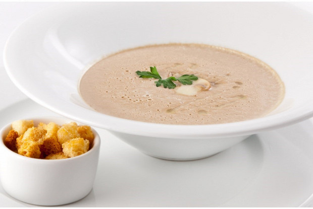 Суп пюре из грибов и картофеля