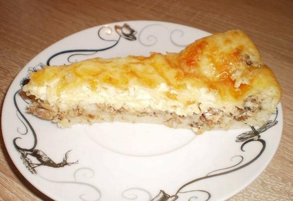 Пирог из сайры