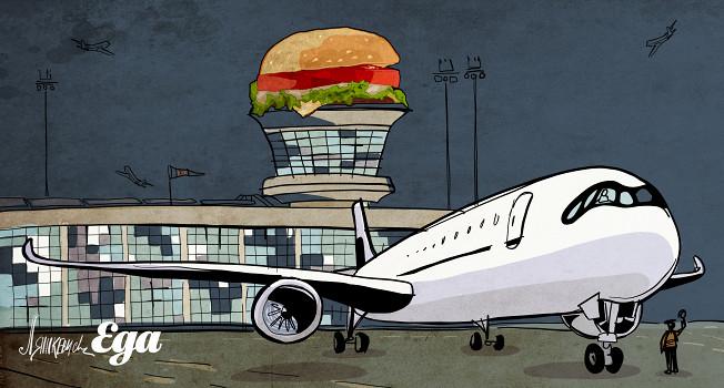 Как продукты попадают в аэропорт