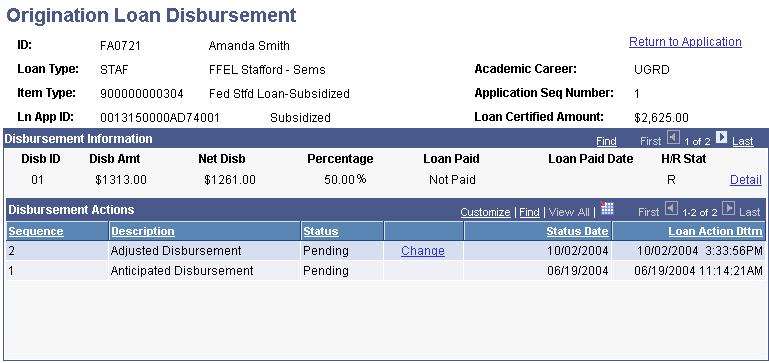 Fresno state loan disbursement