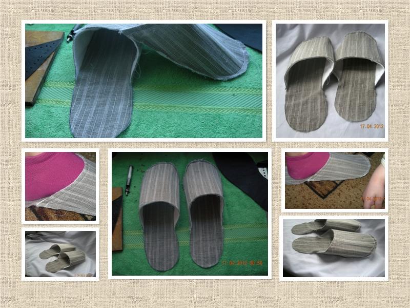 Материал для пошива домашних тапочек