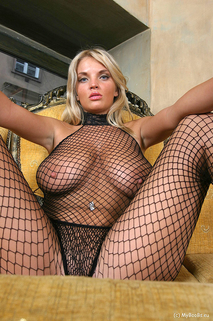 Big Tits Fishnet Bodysuit