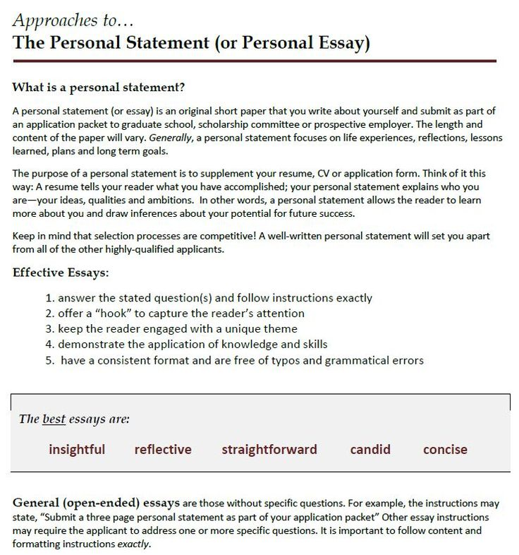 How to write a personal statement for college admission